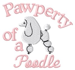 Poodle Pawperty embroidery design