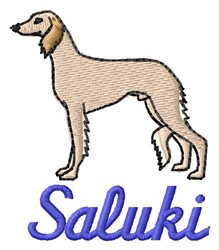 Saluki embroidery design