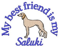 Saluki Friend embroidery design