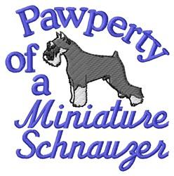 Schnauzer Pawperty embroidery design