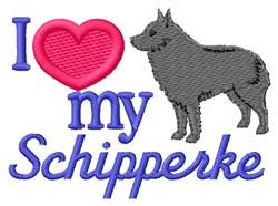 Love My Schipperke embroidery design