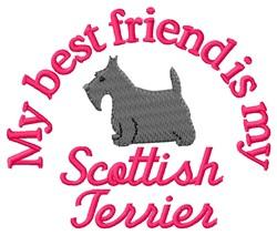 Scottish Terrier Friend embroidery design