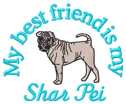 Shar Pei Friend embroidery design
