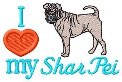 Love My Shar Pei embroidery design