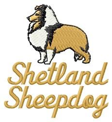 Shetland Sheepdog embroidery design