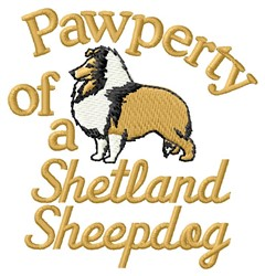 Shetland Sheepdog Pawperty embroidery design