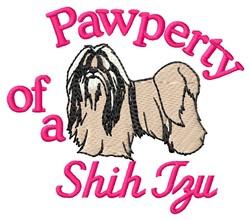 Shih Tzu Pawperty embroidery design
