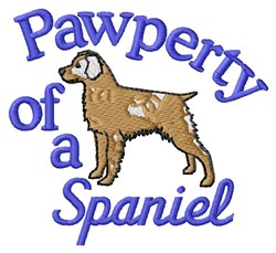 Spaniel Pawperty embroidery design