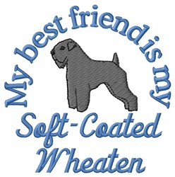 Wheaten Friend embroidery design