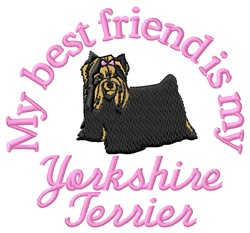 Yorkshire Terrier Friend embroidery design