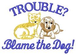 Blame Dog embroidery design