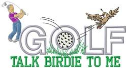 Talk Birdie embroidery design
