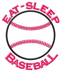 Eat Sleep embroidery design