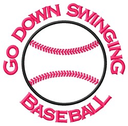 Go Down embroidery design