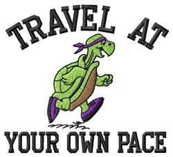 Travel embroidery design
