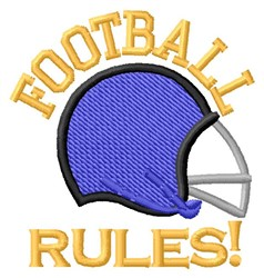 Rules embroidery design