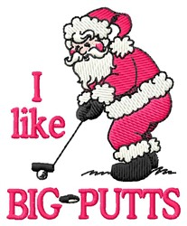 Big Putts embroidery design