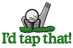 Tap That Golf Ball embroidery design