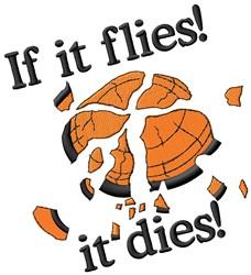 Flies/Dies embroidery design