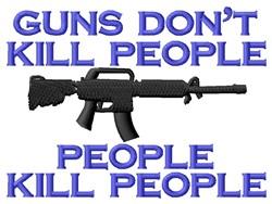 Guns Dont AR15 embroidery design