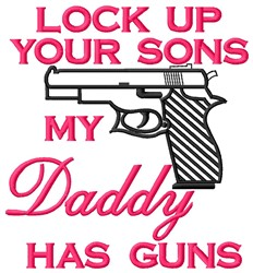 Daddy embroidery design