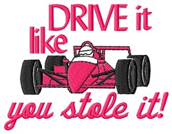 Drive It embroidery design