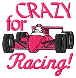 Racing Crazy embroidery design