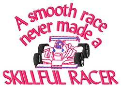 Skillful Racer embroidery design