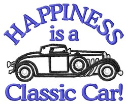 Happiness Car embroidery design