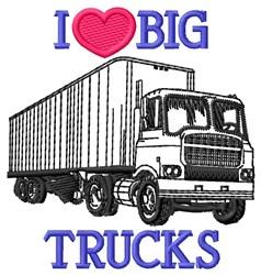 Big Trucks embroidery design