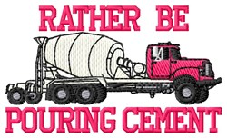 Pouring Cement embroidery design