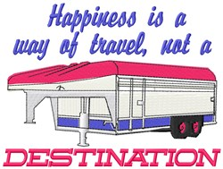 Happiness Destination embroidery design