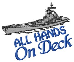 On Deck embroidery design