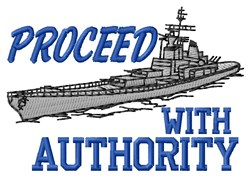 Proceed Authority embroidery design