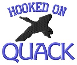 Hooked On Quack embroidery design