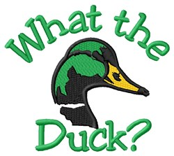 What The Duck embroidery design