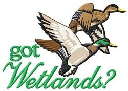 Got Wetlands? embroidery design