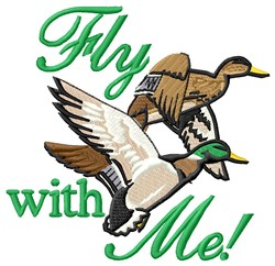 Fly With Me embroidery design