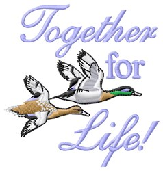 Together For Life embroidery design