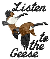 Listen To Geese embroidery design