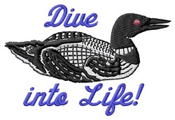 Dive Into Life embroidery design