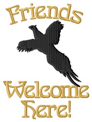 Friends Welcome embroidery design