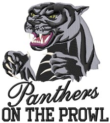 Panthers Prowl embroidery design