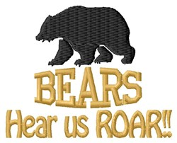 Bears Roar embroidery design