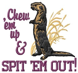 Chew Em Up embroidery design