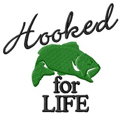 Hooked On Life embroidery design