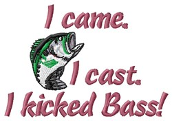 Kicked Bass embroidery design
