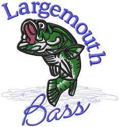 Largemouth Bass embroidery design