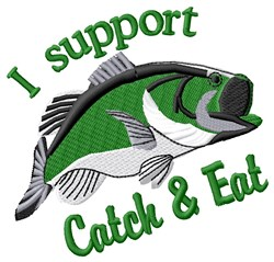 Catch & Eat embroidery design