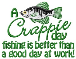 Day Fishing embroidery design